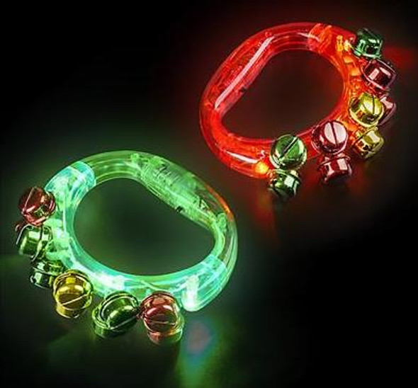 "Light up Tambourines | 4.75"" Red & Green Light Up 