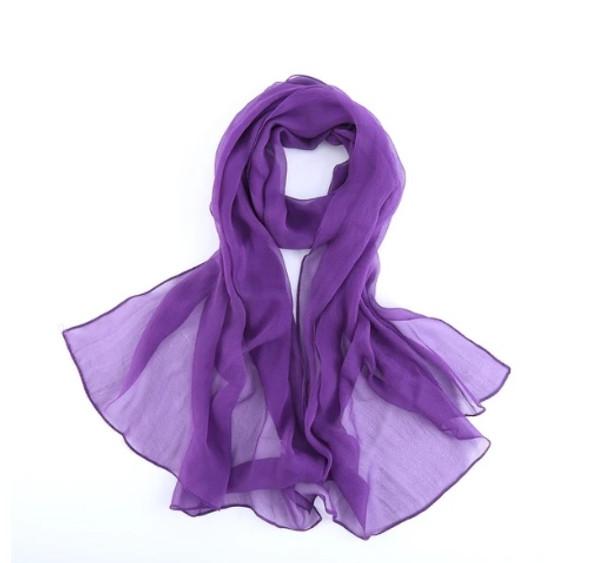 """Purple Long Sheer Chiffon Scarf 12 PACK  21"""" x 60"""" 2134PU"""