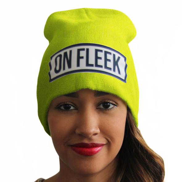 On Fleek Beanies | On Fleek Hats | Slang Beanies®  Ribbed Comfort Knit Hats 10+ Colors 10622