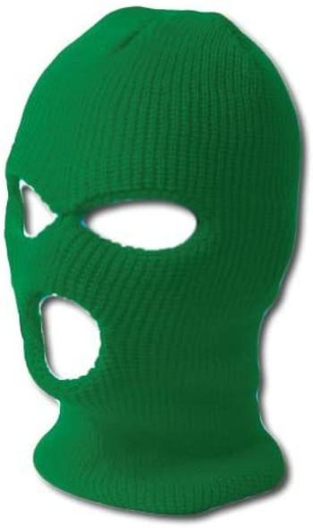 Three Hole Knit Ski Mask-Kelly Green 3061NG