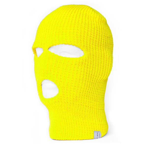 Three Hole Knit Ski Mask-Neon Yellow 3061Y