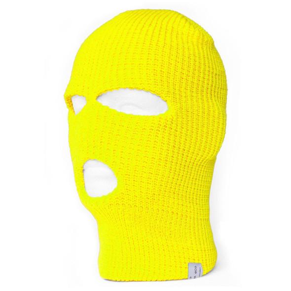Three Hole Knit Ski Mask-Neon Yellow 3061Y