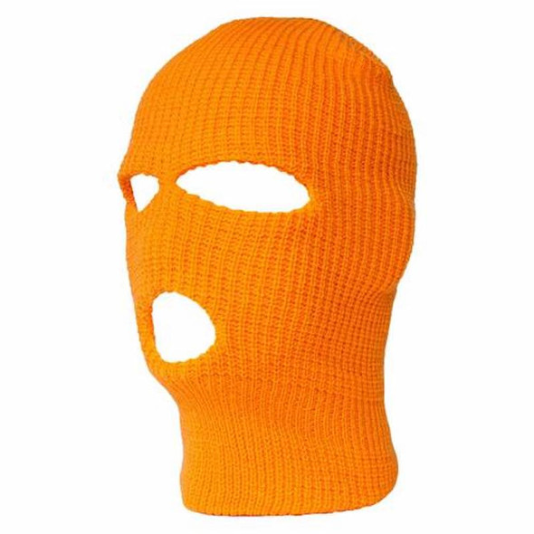 Three Hole Knit Ski Mask-Neon Orange 3061O
