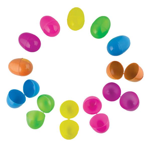 "Plastic Easter Eggs Neon Color 2.25"" Standard 60 Pieces 1864"