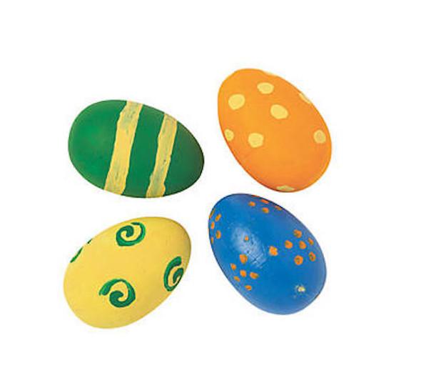 Paintable Crafts For Kids Foam White Eggs 24 PCS