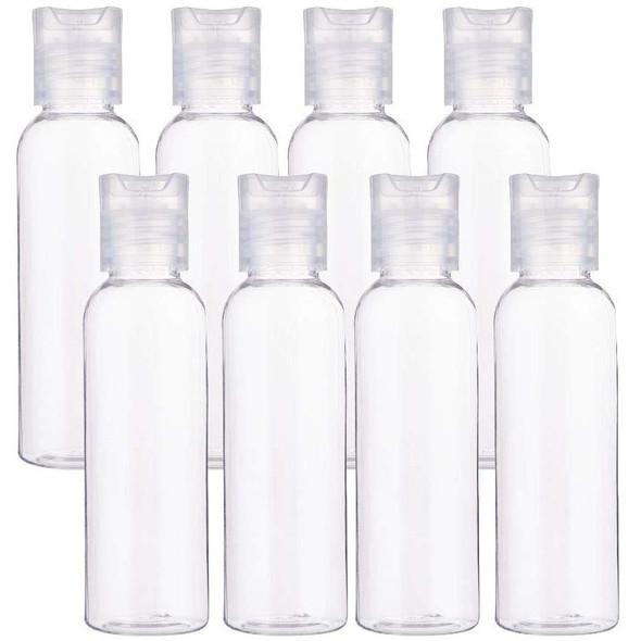 6 OZ Clear Plastic Perfume Empty Bottle Travel Makeup Sanitizer USA 30270