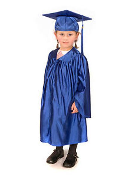 Preschool Kindergarten Graduation Gown and Cap Blue Set  | 1495
