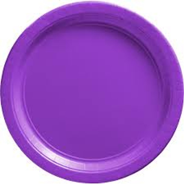 "Purple Paper Plates Party  9"" 20 Pack 3856P"