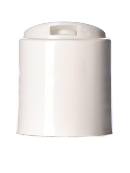 White Press Dispensing Caps Push Down 24-410 Disc Cap Closure 24/410