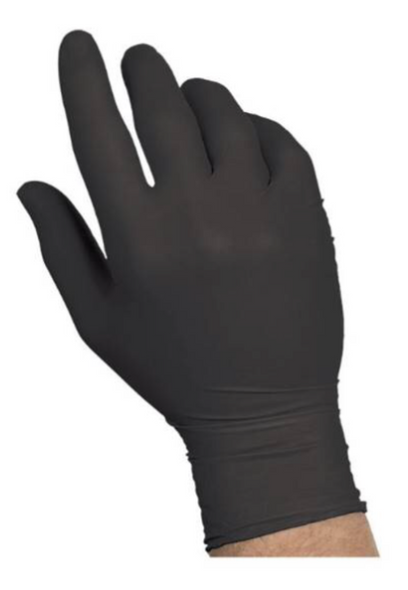 Black Nitrile Gloves |  100 PACK Disposable Gloves Powder Free SHIPS TODAY 15038NB
