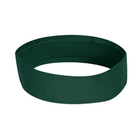 Hunter Green Hat Bands | 2.25' Non Pleated Solid Cotton/ Spandex Twill