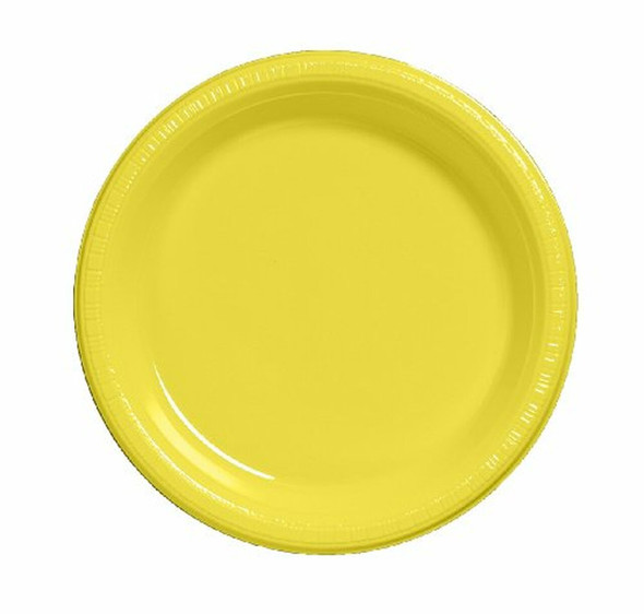 Yellow 7-in. Plastic Dessert Plates,25-ct. Packs 3856PBK