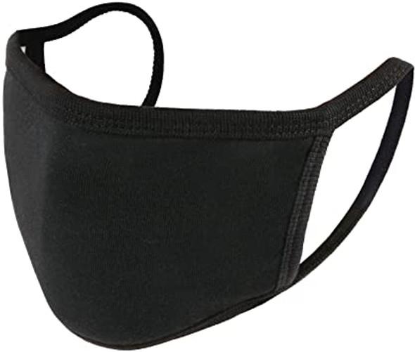 Kids Face Masks | Kids Masks | Childrens Masks |  Black Double Ply Soft Cotton 12 PACK