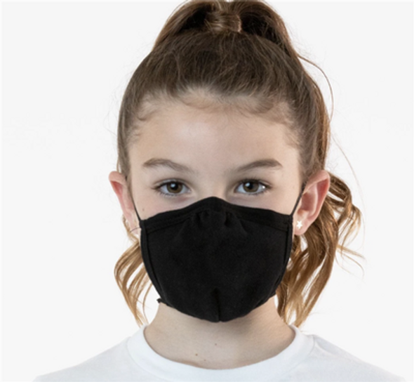 Kids Customized Cotton Face Masks | Black Double Layer Soft Cotton No Minimum70001KC