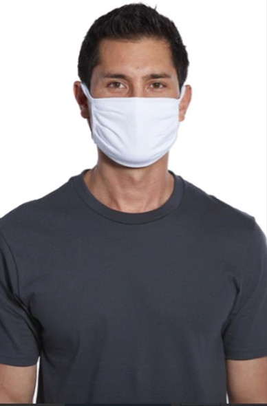 White Cotton Face Masks | Adult Size Double Ply Soft Cotton 10 PACK 70001FMBW