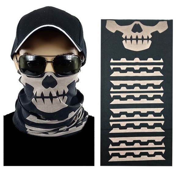 Skull Multi-function Seamless Tube Bandana 12 PACK