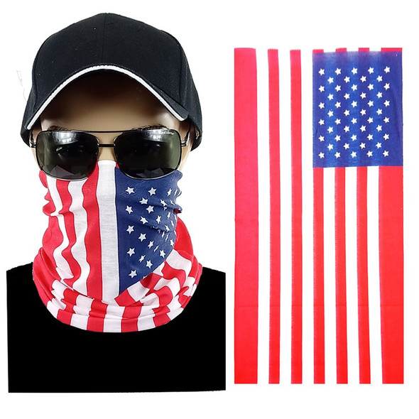 USA FLAG Multi-function Seamless Tube Bandana 12 PACK 700USA