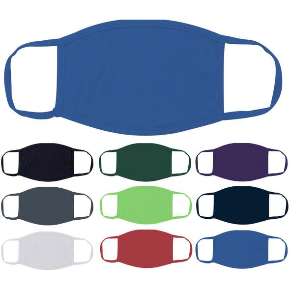 Blue Face Masks Cotton |  12 PACK | Adult Size Double Ply Soft Cotton 134B