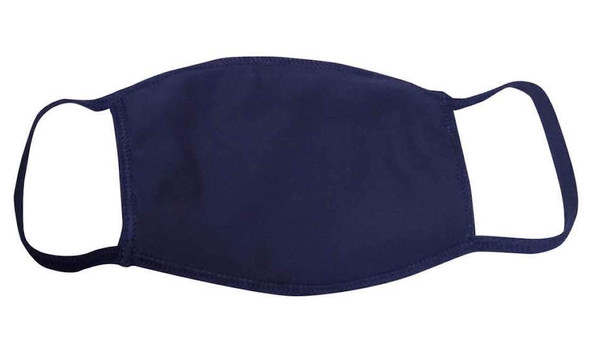 Navy Blue Face Masks Cotton |  12 PACK | Adult Size Double Ply Soft Cotton 134NB