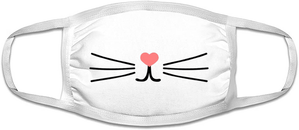 Kitty Cat Face Mask  |  Cotton Face Mask | Adult Double Ply Soft Cotton