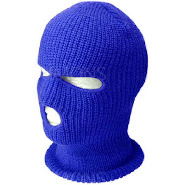 Three Hole Knit Ski Mask-Royal Blue 3061RB