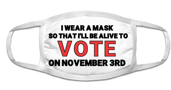Vote Face Masks | Vote Mask | Voting Mask | Adult Double Ply Soft Cotton 763V