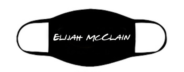 Elijah Mc Clain Face Mask | Elijah Mc Clain Mask | Adult Double Ply Soft Cotton 763EC