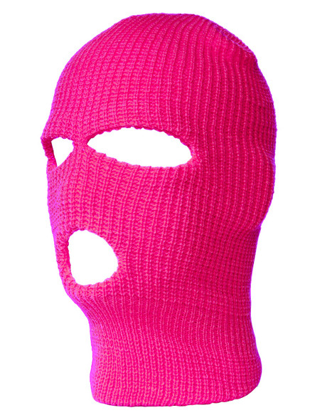 Three Hole Knit Ski Mask-  Hot Pink 3061HPI