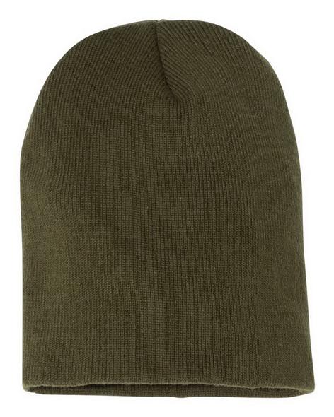Short Beanie Hat Bulk Olive Drab 5743OD