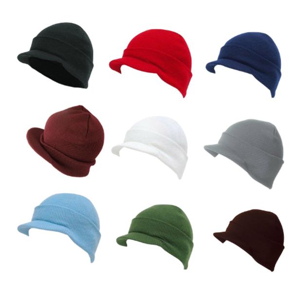 Beanie Visor Hats Bulk |   12 PACK MIX COLORS 588800