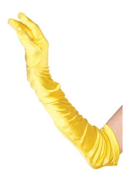 Yellow Gloves Opera Satin 1219Y