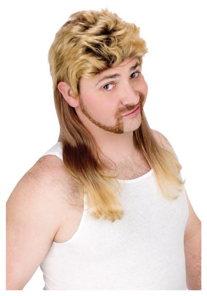 Blonde Mullet Wig 6041