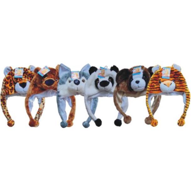 Bulk Animal Hats 12 PACK ASST 5950A