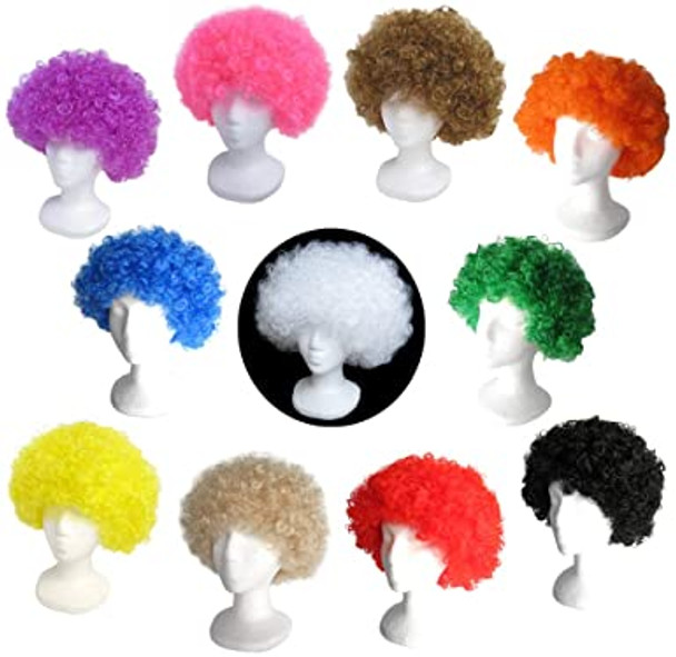 Mix Colors 12 PACK Costume Afro Wig 12 PACK 6016D