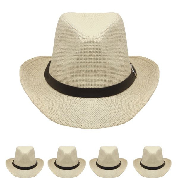 Tan Cowboy Hats Bulk    Adult 12 PACK 1480T UNISEX