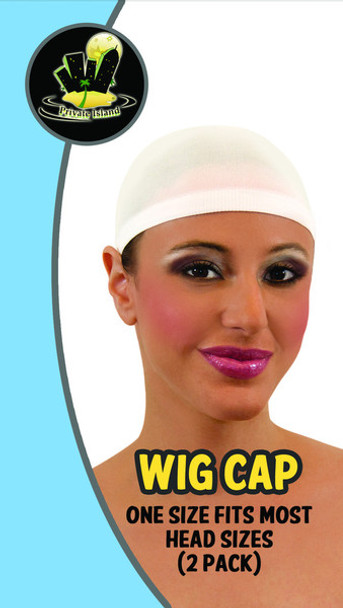12 PACK White Wig Caps 6003