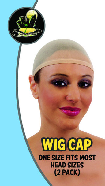 Beige Wig Caps 12 PACK 6004