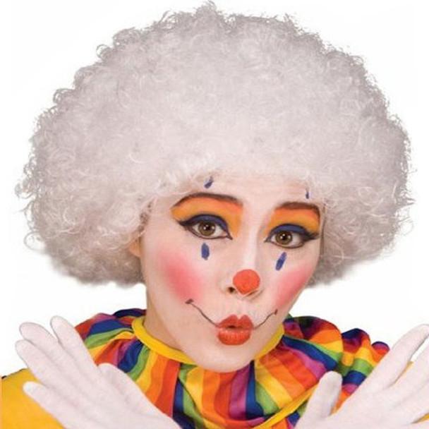 White Afro Wig 6016