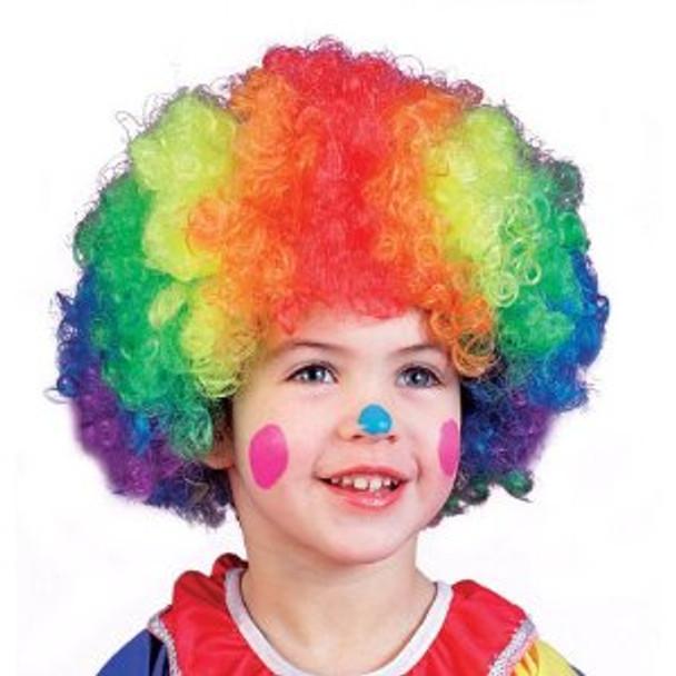 Rainbow Child Clown Wig 6028