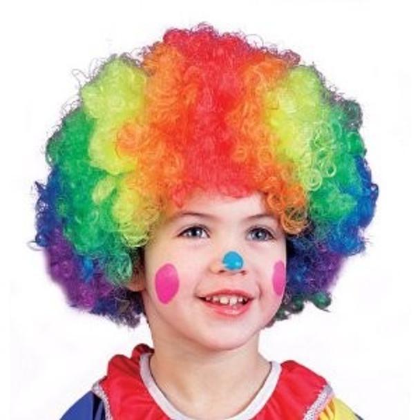 Clown Wig Rainbow Adult 6031