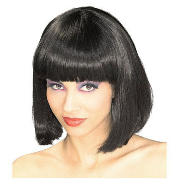 Black Bob Wig Short Wig Costume Supermodel  6042