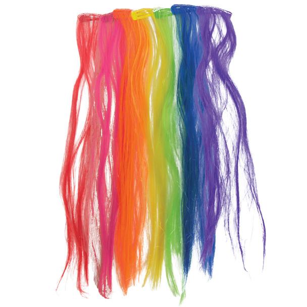 Bulk Hair Extensions Mix Colors 12 PK 6156