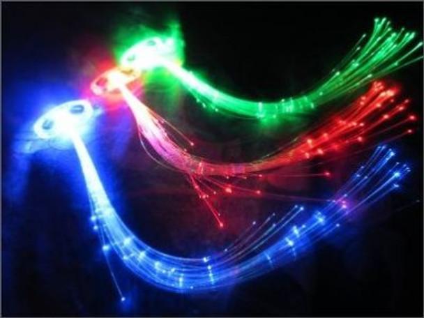 Red Starlight Fiber Optic Hair Extensions 6160