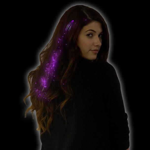 Purple Starlight Fiber Optic Hair Extensions 6163