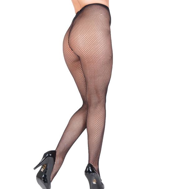 Black Fishnet Pantyhose 8040