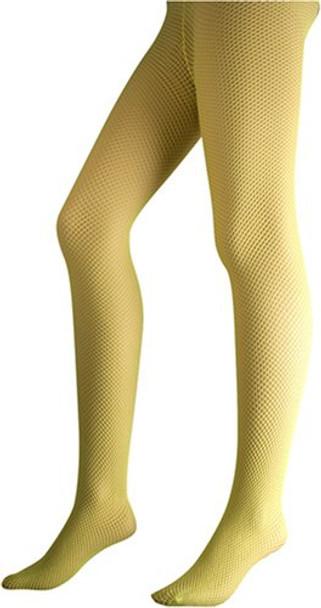 Yellow Fishnet Pantyhose 8044