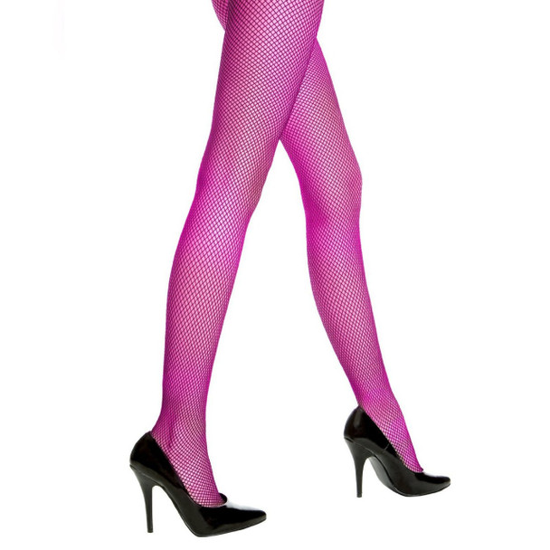 Purple Fishnet Pantyhose 8045