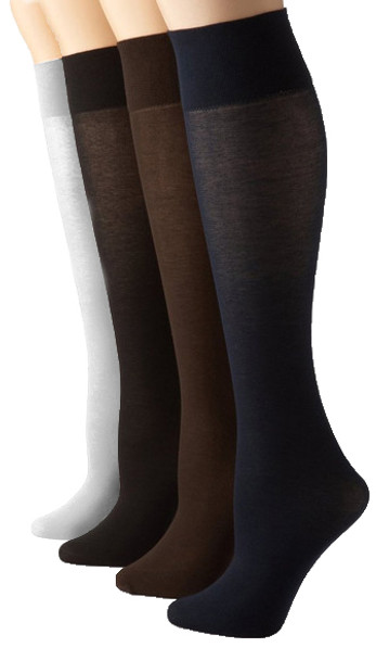 12 PACK Opaque Knee Highs Mix Colors 8100