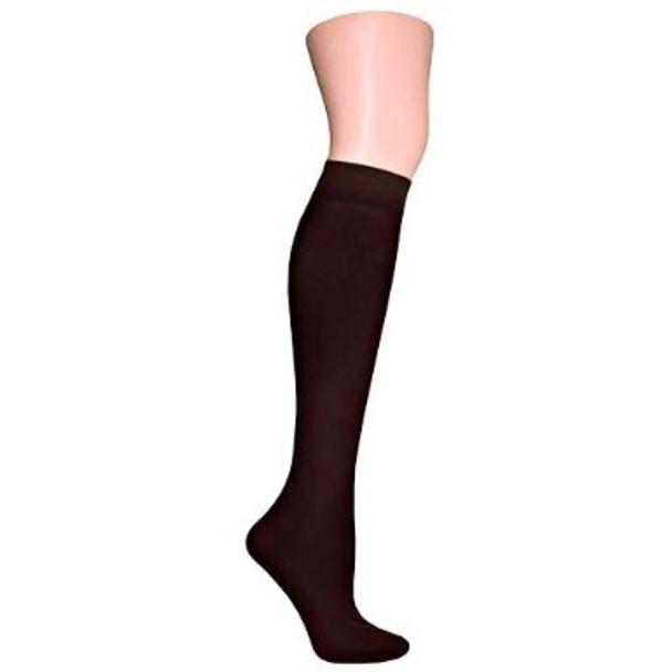 Brown Opaque Knee Highs 8102