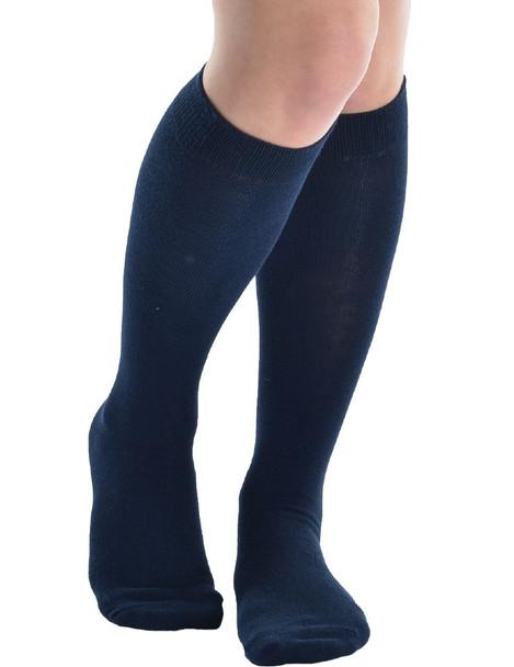 Navy Opaque Knee Highs 8105
